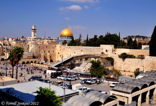 Temple Mount in Jerusalem from the SW. Photo by Ferrell Jenkins.