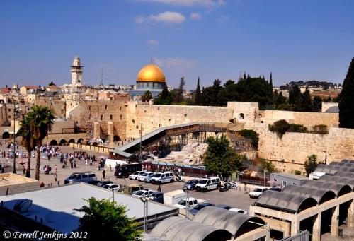 Temple Mount in Jerusalem from the SW. Photo by Ferrell Jenkins.