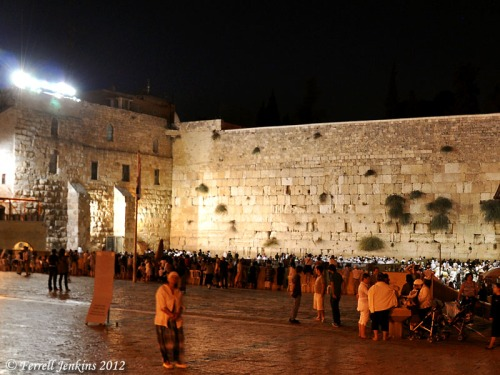 The Western Wall at the beginning of Rosh HaShanna. Photo by Ferrell Jenkins.