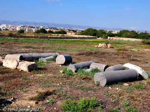 Ancient agora at Paphos, Cyprus. Photo by Ferrell Jenkins.