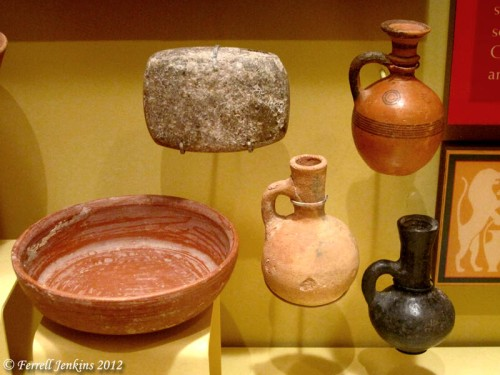 Iron Age IIA (1000-900 B.C.) Pottery in the Lynn H. Wood Museum.