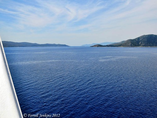 Samos-Turkey Strait. View North. Photo by Ferrell Jenkins.
