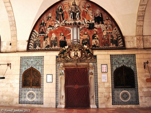 Entrance to St. James Cathedral in the Armenian Quarter of Jerusalem. Photo by Ferrell Jenkins.