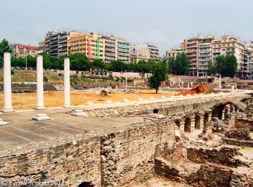 Roman forum in the center of Thessalonica. Photo by Ferrell Jenkins.