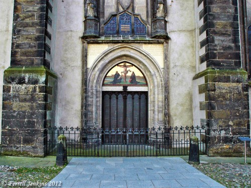 Door of the Castle Church in Wittenberg. Photo by Ferrell Jenkins.