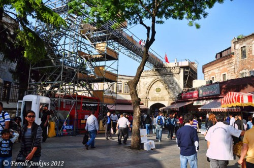 Istanbul Grand Bazaar set for the Bond 007 Skyfall movie. Photo by Ferrell Jenkins.