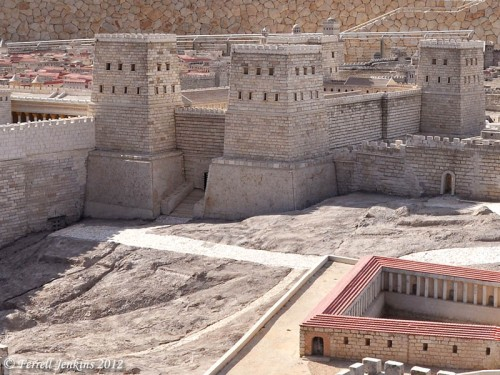 Fortress of Antonia in the Second Temple Model. Photo by Ferrell Jenkins.