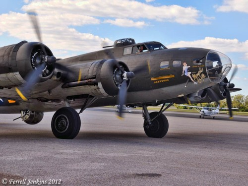 Memphis Belle - B-17 - at Tampa Executive Airport. Photo by Ferrell Jenkins.
