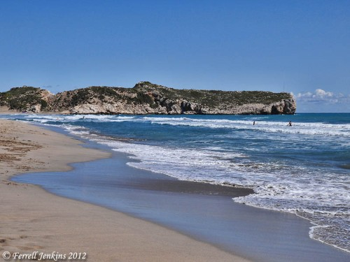 Beach on the Mediterranean Sea at Patara, Turkey. Photo by Ferrell Jenkins.