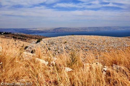 The Sea of Galilee from the north. View toward Bashan in the east. Photo by Ferrell Jenkins.