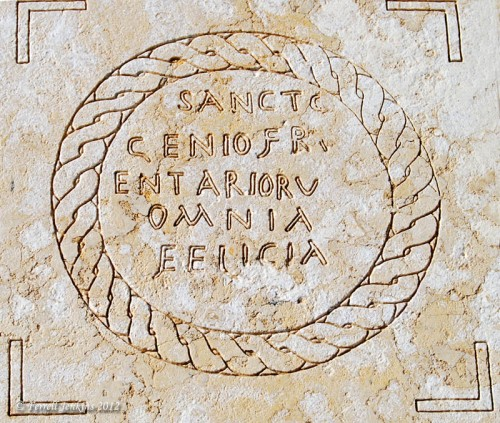 Prison inscription found at Caesarea. Photo by Ferrell Jenkins.