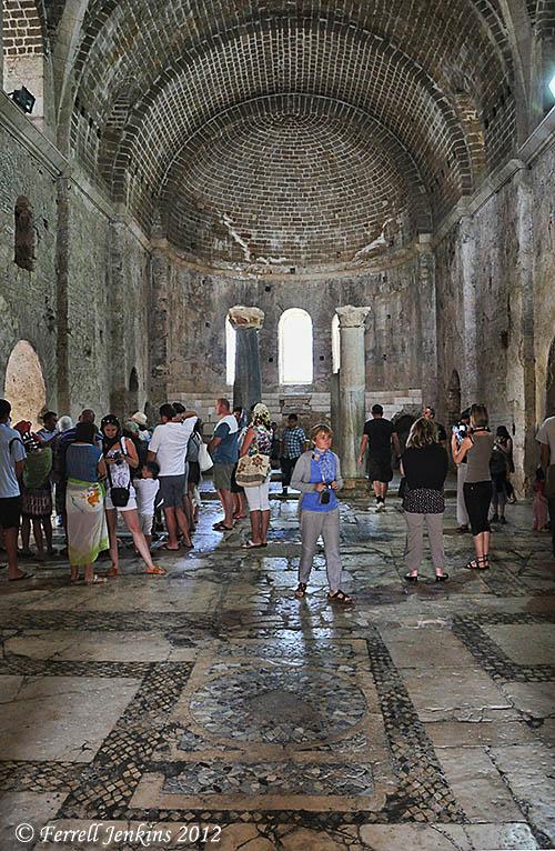 St. Nicholas Byzantine church, Myra, Turkey. Photo by Ferrell Jenkins.