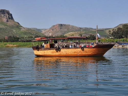 Sightseeing boat on the Sea of Galilee. Photo by Ferrell Jenkins.