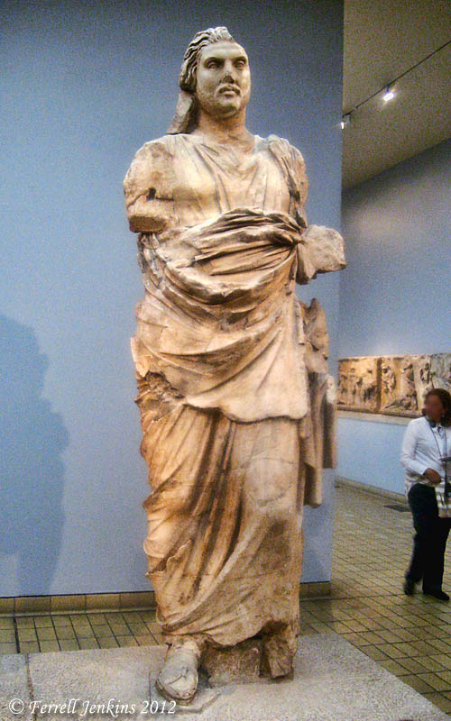 Statue of Mausolus in British Museum. Photo by Ferrell Jenkins.