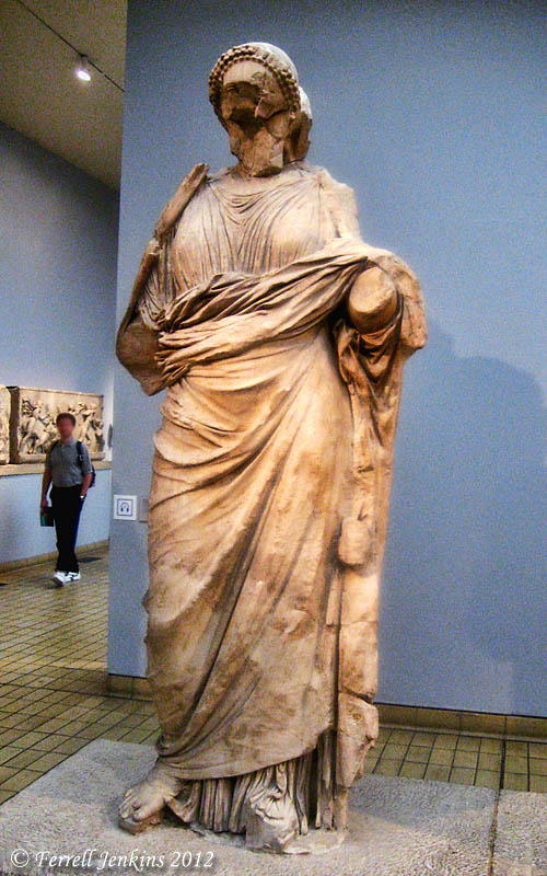 Statues from the Mausoleum of Maussollos - Marble, About 350 B.C