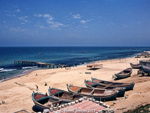 Gaza on the Mediterranean Sea in May, 1968. Photo by Ferrell Jenkins.