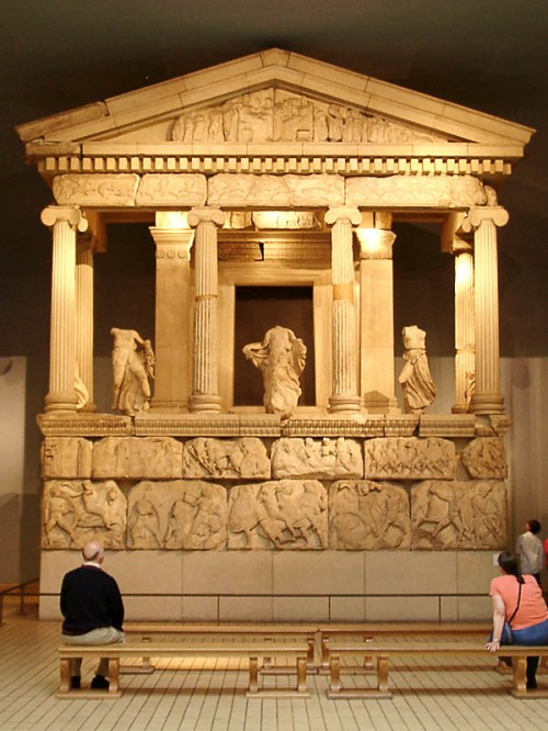 Nereid Monument in British Museum. Photo by Ferrell Jenkins.