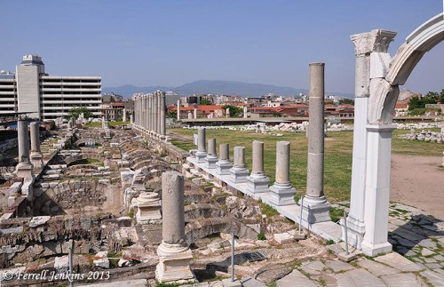 The Roman agora of Izmir, biblical Smyrna. Photo by Ferrell Jenkins.