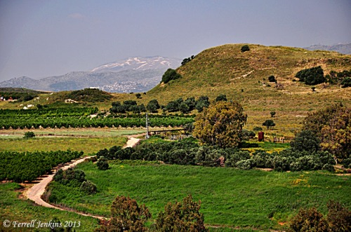 Abel-beth-maacah and Mount Hermon. View toward east. Photo by Ferrell Jenkins.