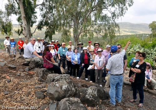 "Tour group at ""Bethsaida"". Photo by Ferrell Jenkins."