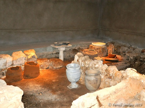 Basement of the Burnt House destroyed by the Romans in A.D. 70. Photo by Ferrell Jenkins.