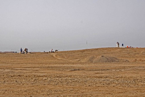 Early stages of excavation at ancient settlement mound of Tel Khaiber. Photo by Prof. Stuart Campbell, University of Manchester.