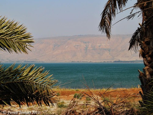 The Sea of Galilee near Bet Yerah. The view is to the east across this narrow southern end of the lake. Photo by Ferrell Jenkins.