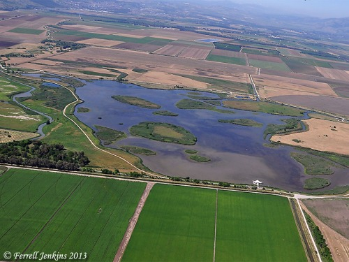 Reclamation of Lake Hula. Aerial photo by Ferrell Jenkins.