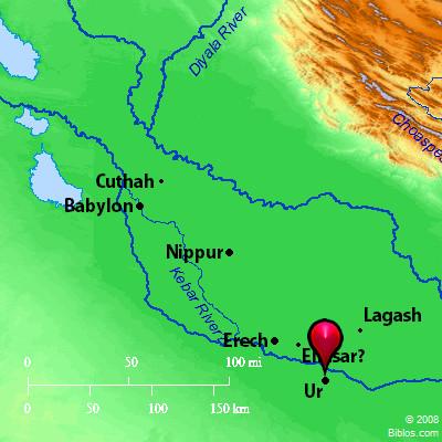 Area of ancient Sumer. BibleAtlas.org