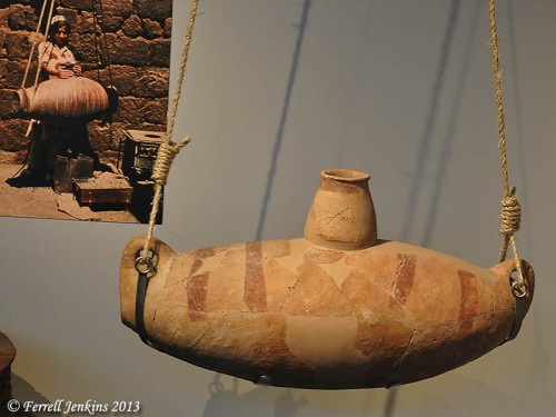 Chalcolithic pottery churn from Beersheba. Israel Museum. Photo by Ferrell Jenkins.