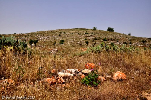 View of Khirbet Kana from the SE. Photo by Ferrell Jenkins.