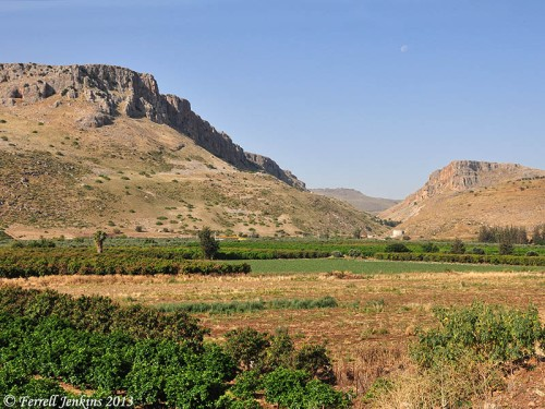 Mount Arbel and the Plain of Genessaret. Photo by Ferrell Jenkins.
