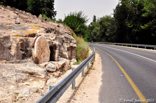 Rolling Stone tomb near Jezreel Valley. Photo by Ferrell Jenkins.