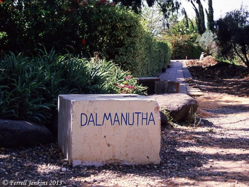 Dalmanutha sign in 1994. Photo by Ferrell Jenkins.