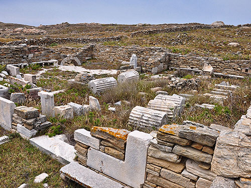 Delos synagogue. Photo by HolyLandPhotos.
