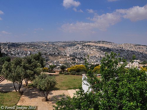 View of Jerusalem from the Haas Promenade. Photo by Ferrell Jenkins.