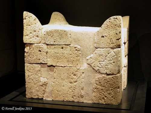 The four-horned altar from Beersheba. Israel Museum. Photo by Ferrell Jenkins.