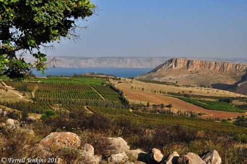 Sea of Galilee and Mount Arbel from the NW. Photo by Ferrell Jenkins.