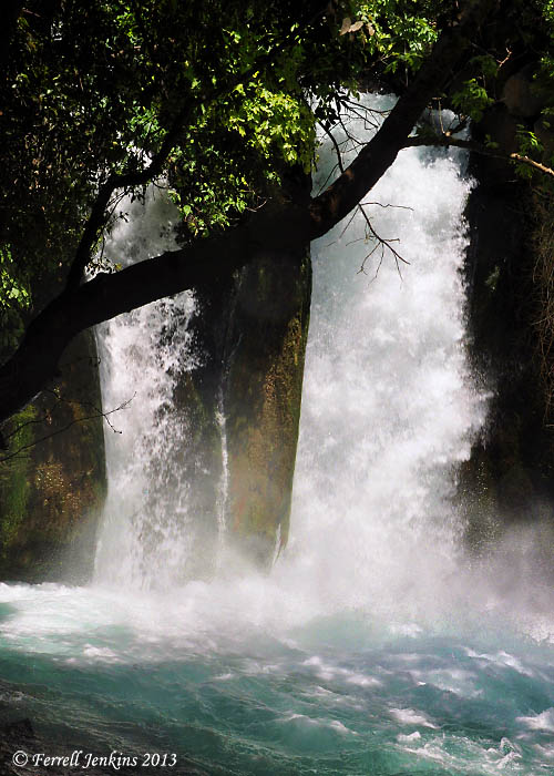 The Banias (Hermon) Waterfall. Photo by Ferrell Jenkins.