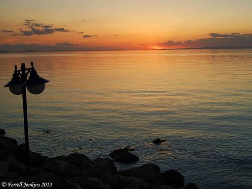 Sunset on Lake Van. Photo made June 5, 2007 by Ferrell Jenkins.