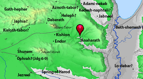 Location of Anaharath. BibleAtlas.org.