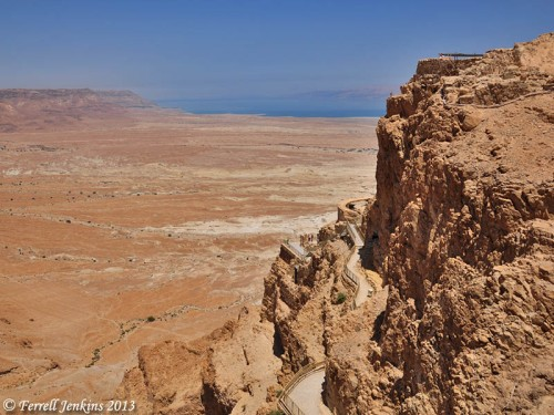 This photo was made from the top of Masada toward the Dead Sea. Photo by Ferrell Jenkins.