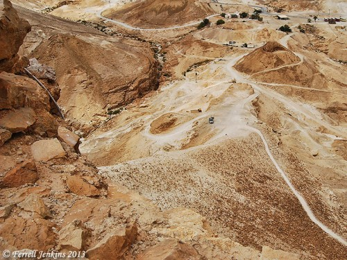 The Roman siege ramp at Masada. Photo by Ferrell Jenkins.