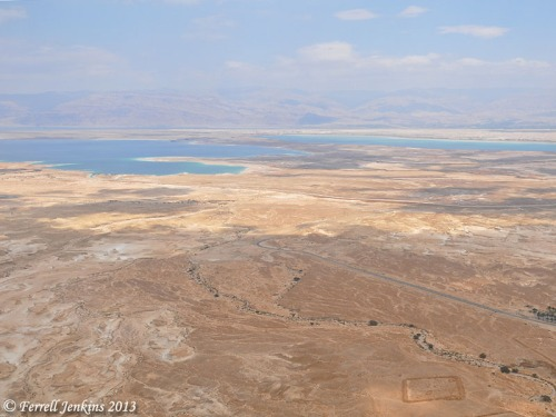 View east from Masada near mid-day. Photo by Ferrell Jenkins.