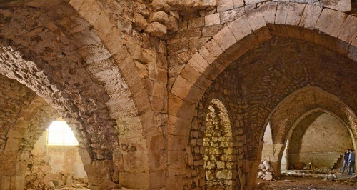 Ruins of the Crusader hospital built by the Order of St. John of the Hospital in Jerusalem. Yoli Shwartz, courtesy of the Israel Antiquities Authority.