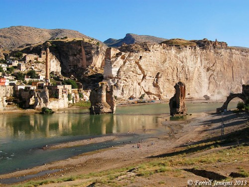 The Tigris River at Hasankef in southeastern Turkey. Photo by Ferrell Jenkins.