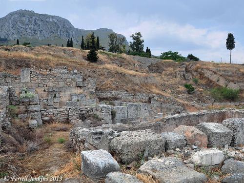 Ruins of the theater at Corinth. Photo by Ferrell Jenkins.