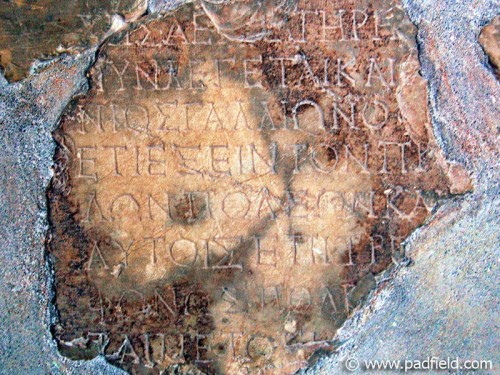 The Delphi (Gallio) inscription. Photo by David Padfield.