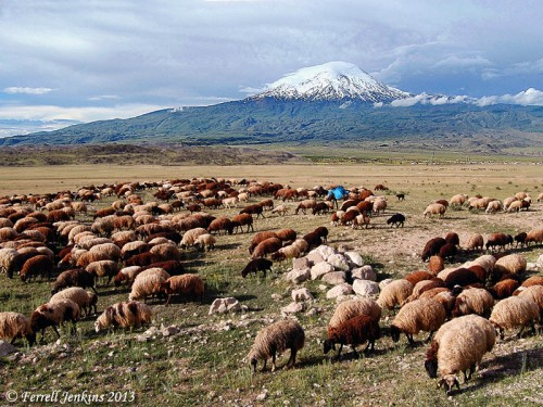 Ararat (Agri Dagh) in north eastern Turkey. Photo by Ferrell Jenkins.