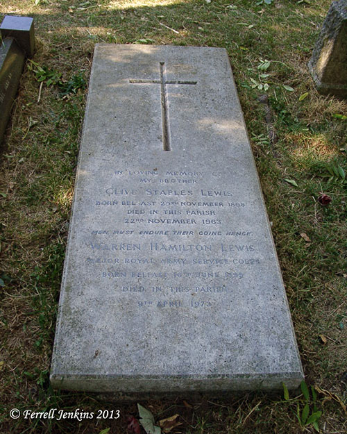 The grave of C. S. Lewis. Photo by Ferrell Jenkins.